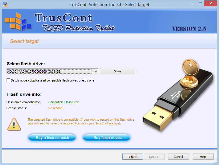 Truscont secure flash drive download